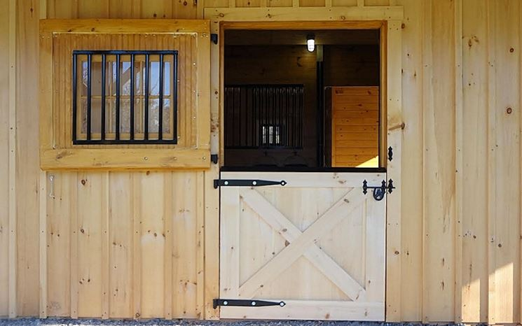 Box in legno per cavalli
