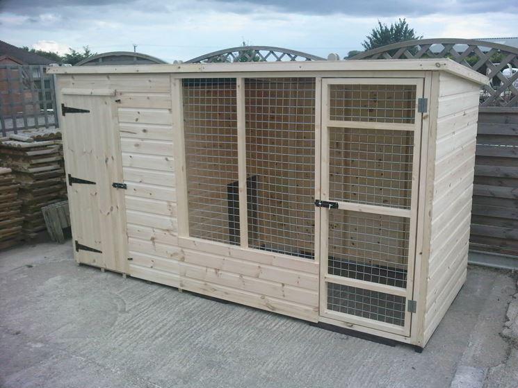 Box per cani in legno