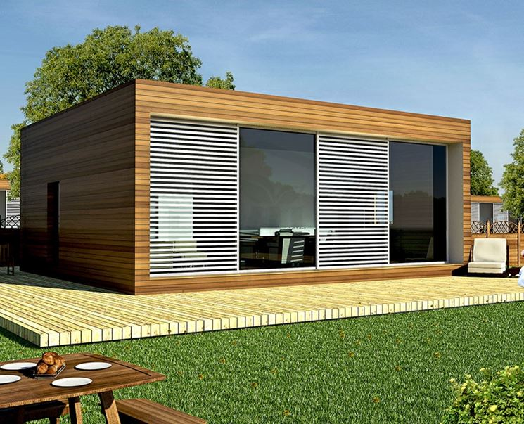 Casa prefabbricate casette di legno case tipo for Casa moderna pianta