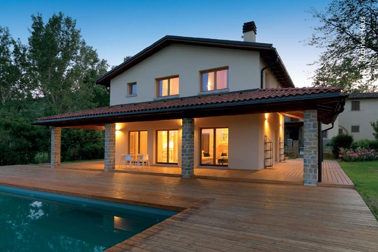 Casa prefabbricate casette di legno case tipo - Costo costruzione casa prefabbricata ...