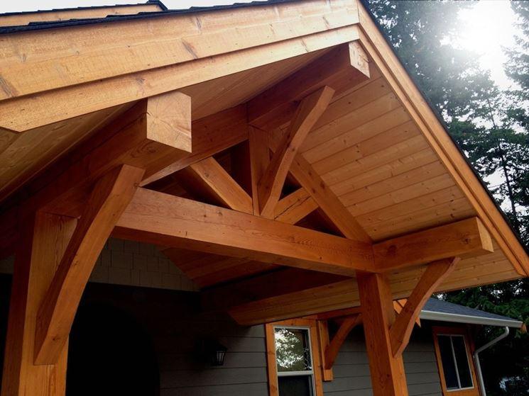 Casetta da giardino in legno lamellare