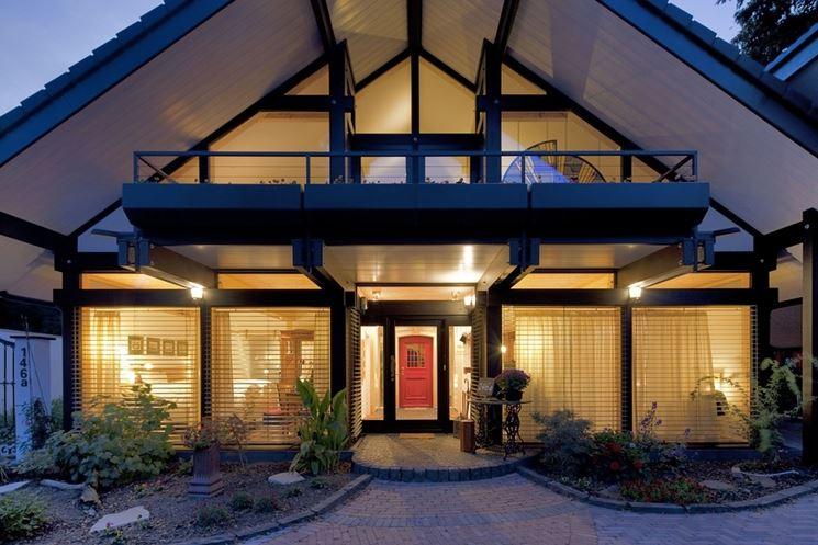 Casa di design in legno lamellare