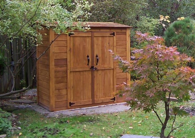 Modello di casetta da giardino in legno