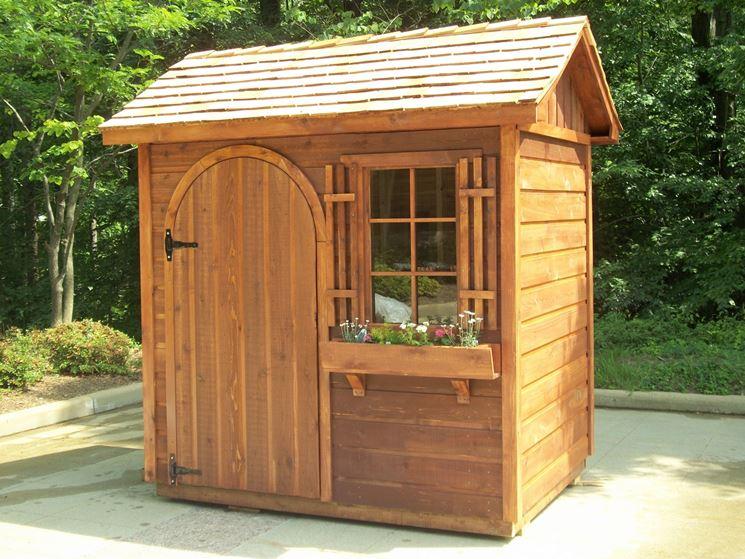 montare casetta in legno