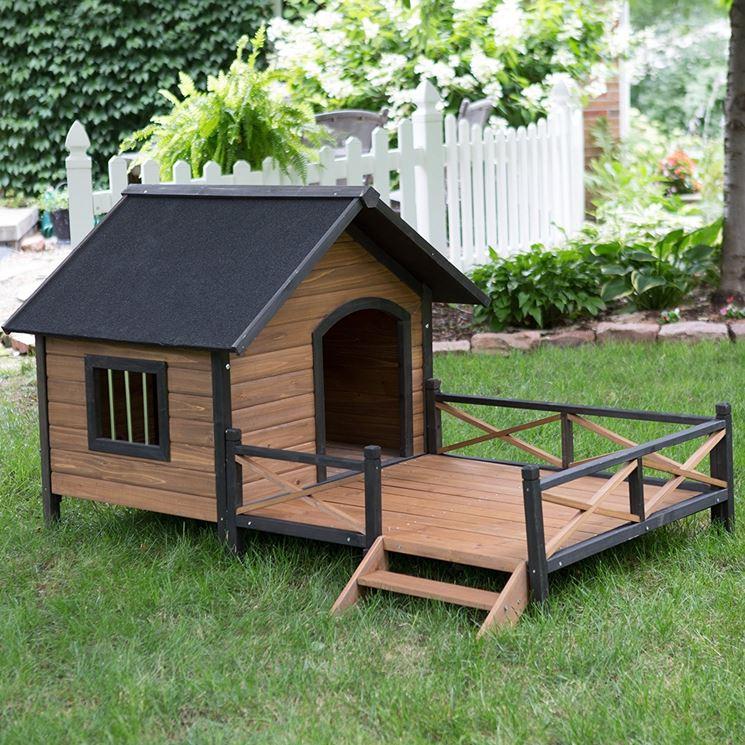 Costruire una cuccia per cani casette di legno - Costruire casette in legno fai da te ...