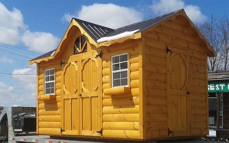 Esempio di casa in legno da giardino