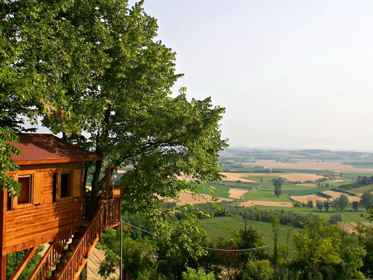 Casa sull'albero con terrazza