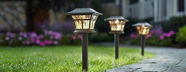 Illuminazione giardino classica