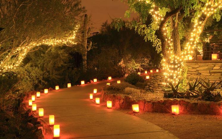 Illuminazione giardino fai da te lampade da esterno for Esempi giardino