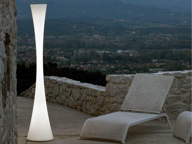 Luci da terra per giardino consigli evergreen sulle lampade da
