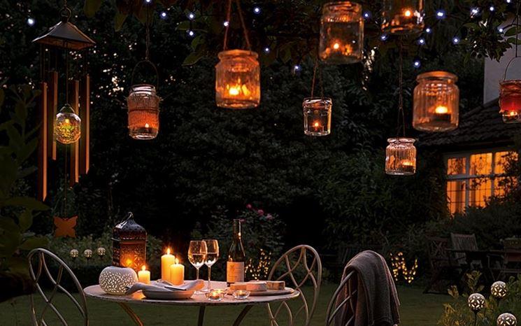 Illuminazione outdoor con lanterne da esterno