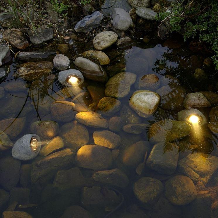 Luci da giardino ad immersione