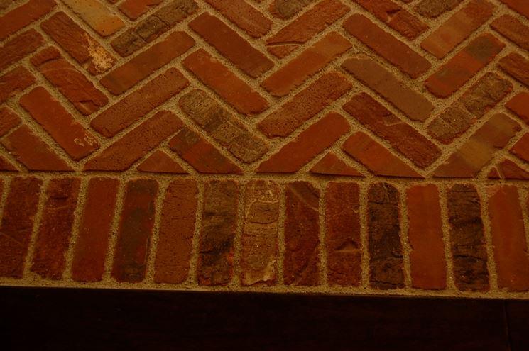 Pavimentazione realizzata con mattoni