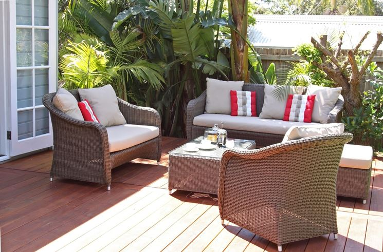 arredamenti per terrazzi mobili da giardino scegliere