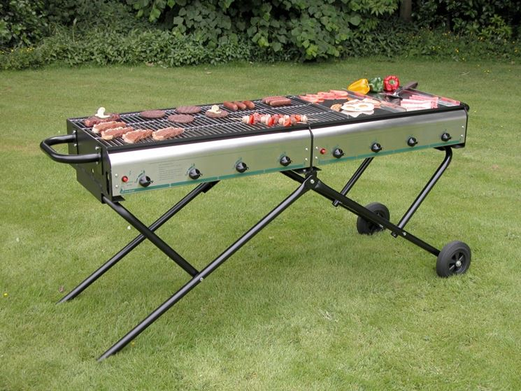 Ampio barbecue a gas