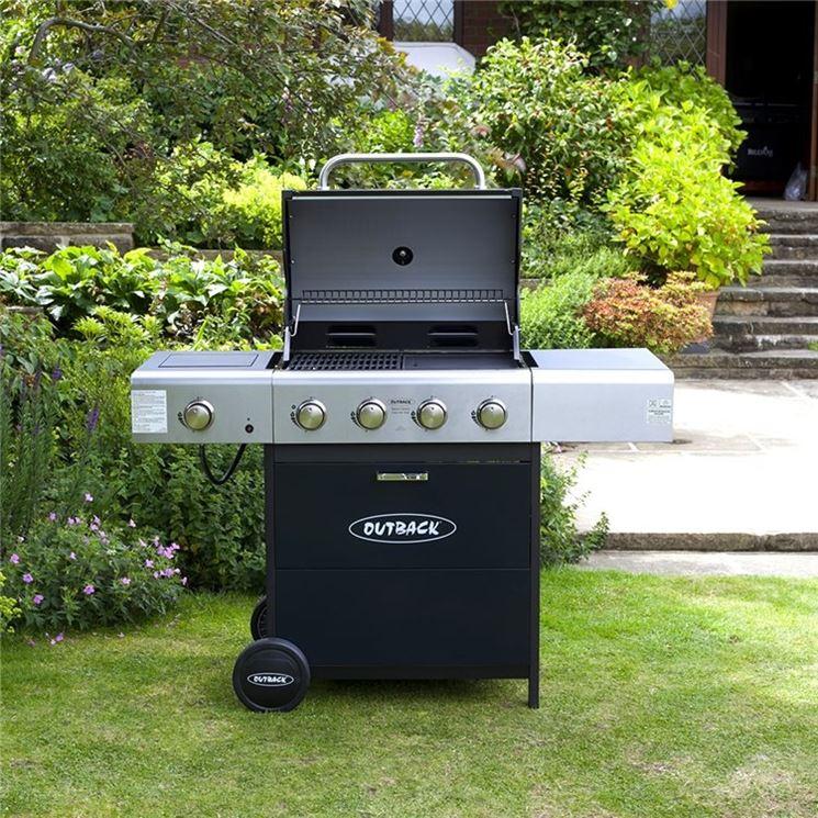 modello di barbecue a gas