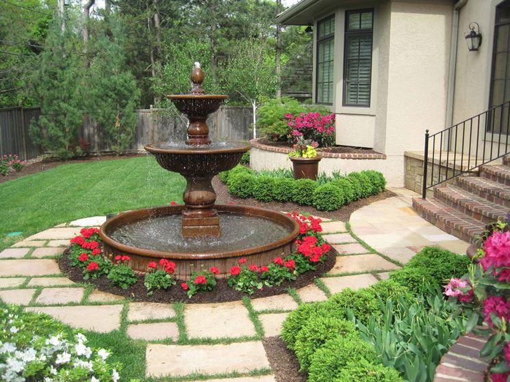 Esempio di fontane da giardino