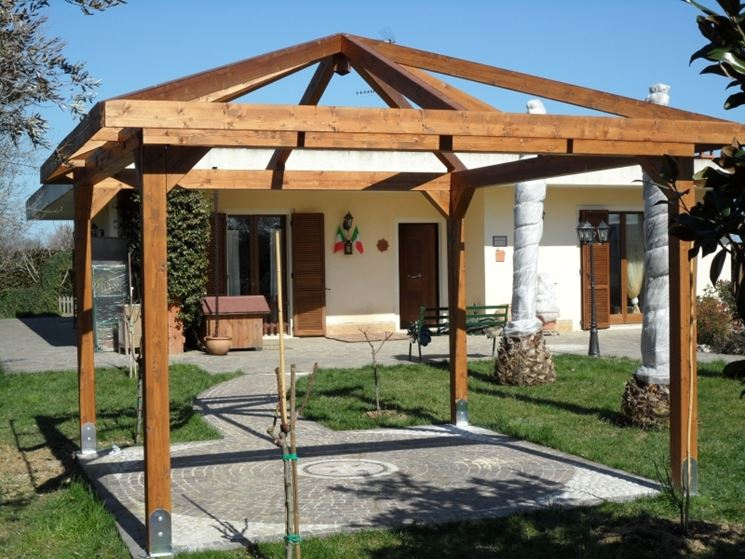 Gazebo in legno   mobili da giardino   gabezi in legno
