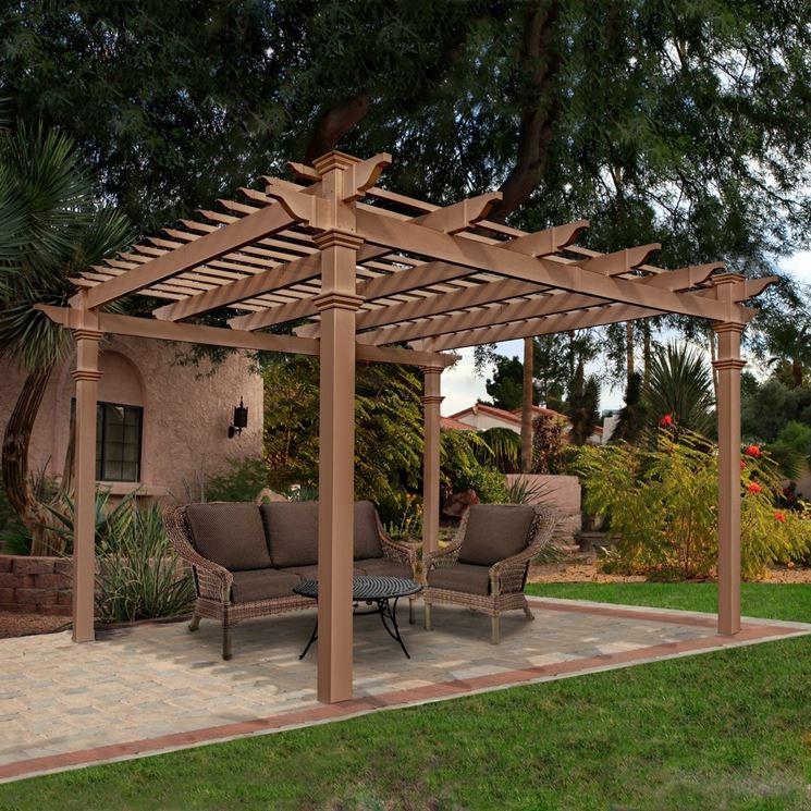 Pergola da giardino in legno