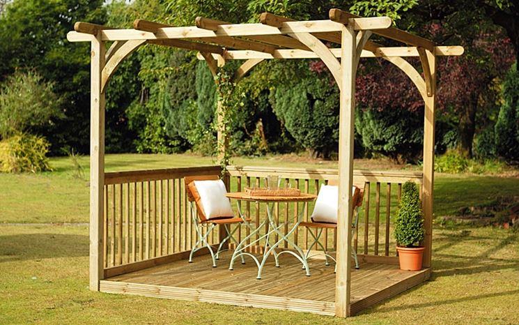 Pergolato in legno fai da te mobili da giardino pergolati giardino - Mobili in legno fai da te ...