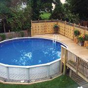 Esempio di piscina fuori terra