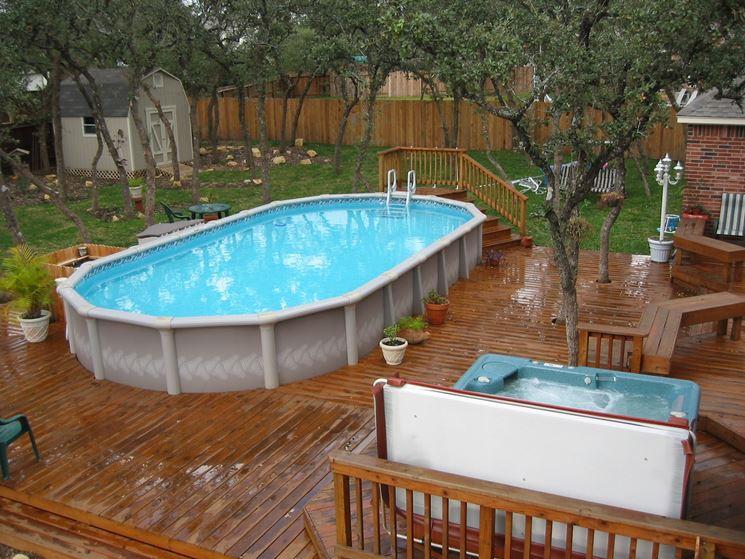 Modello di piscina fuori terra