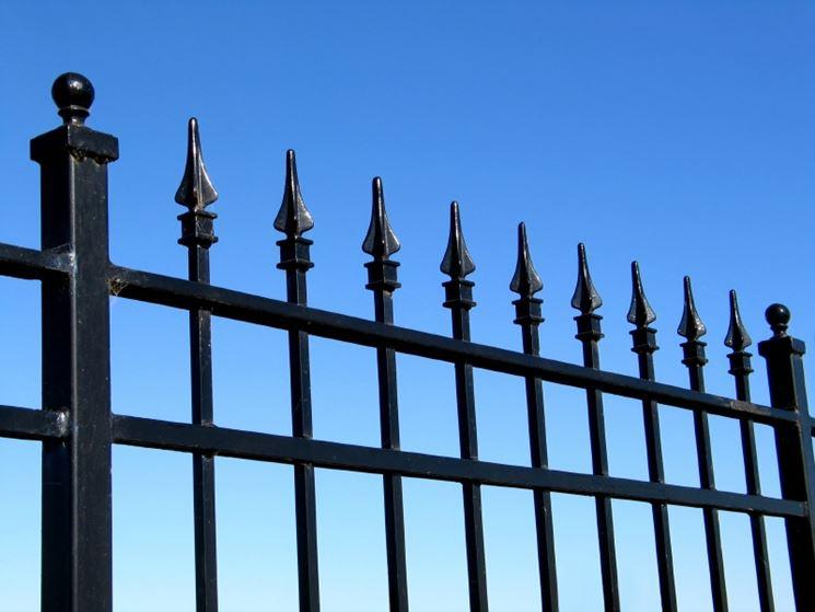 esempio di recinzione in ferro