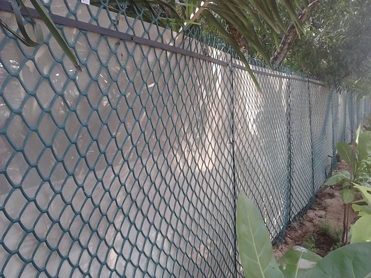 Rete recinzione in plastica