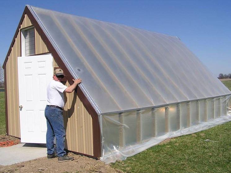 Una serra solare esterna