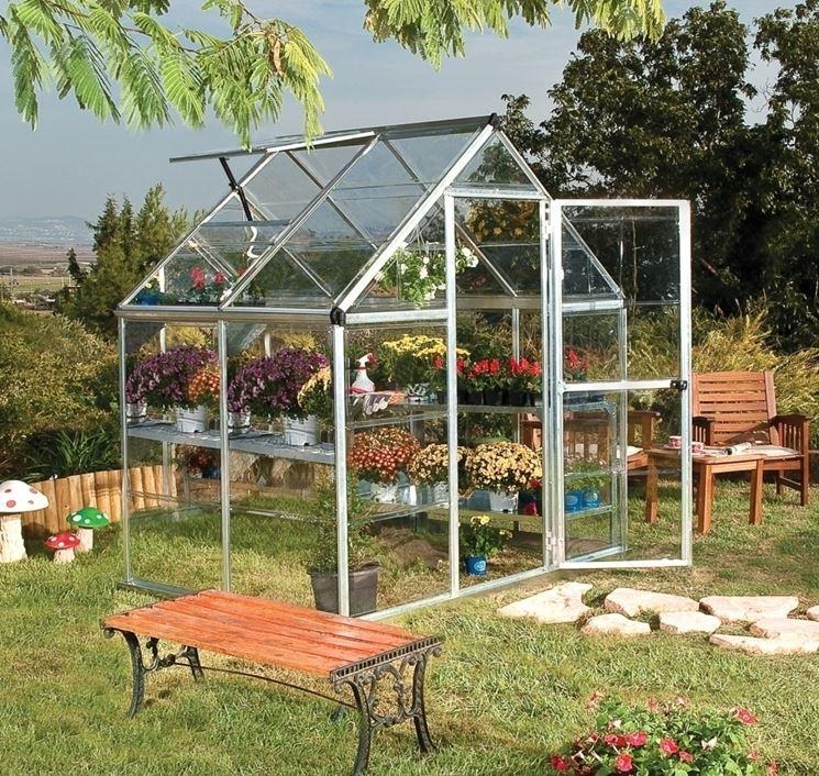 Serra vetro giardino