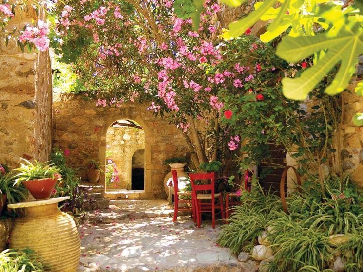 Angolo giardino mediterraneo