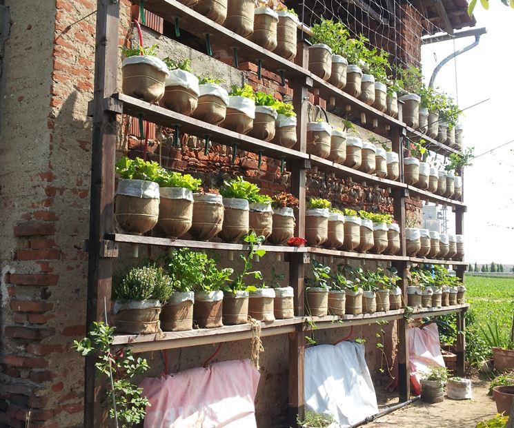 Giardino verticale artigianale