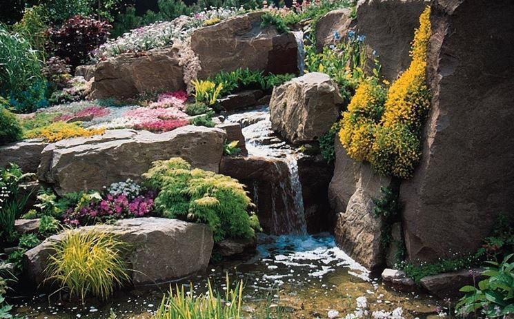 Originale giardino roccioso
