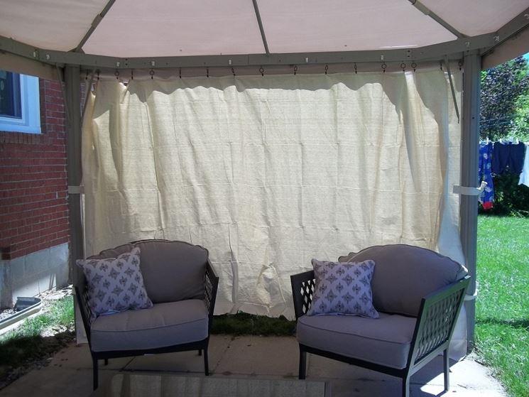 Tenda per gazebo arredato