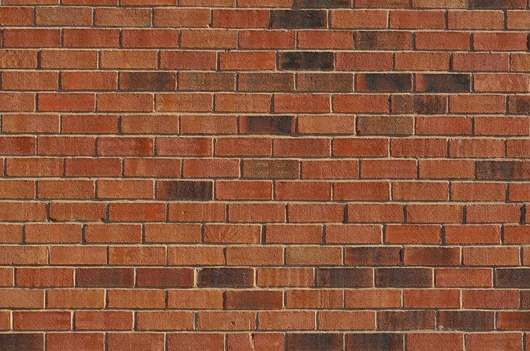 Muro di mattoni di una casa