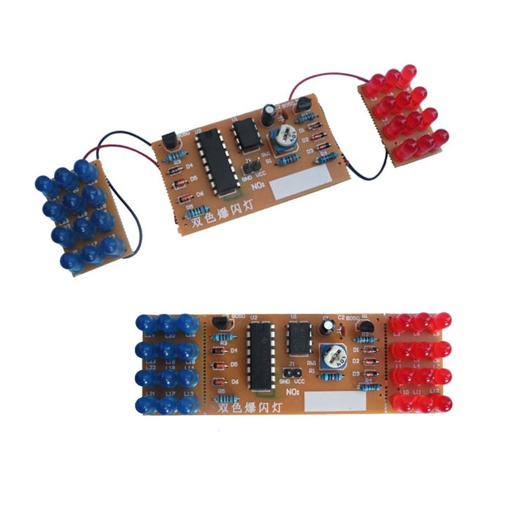 Kit elettronica fai da te con due serie di led lampeggianti