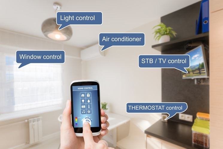 Sistema domotico da smartphone