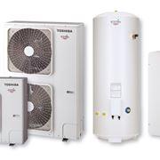 Esempio di pompa di calore aria-acqua