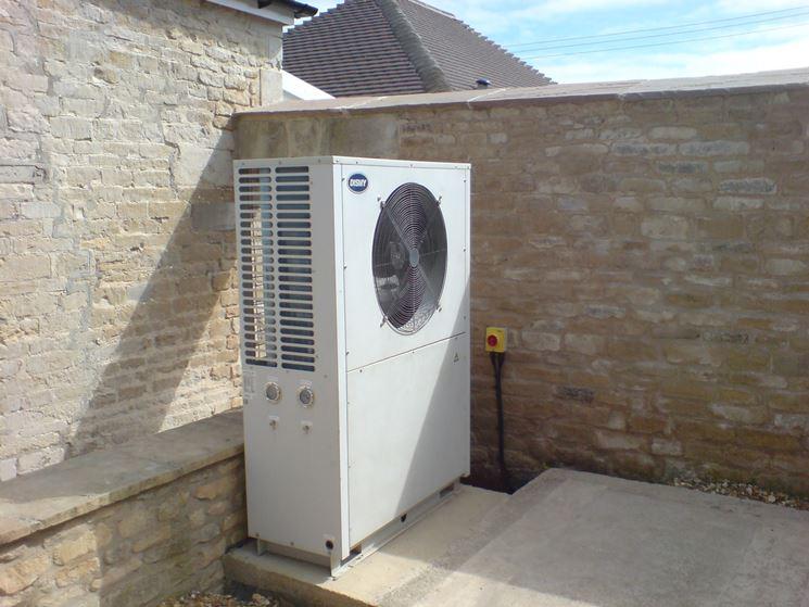 unità esterna pompa di calore
