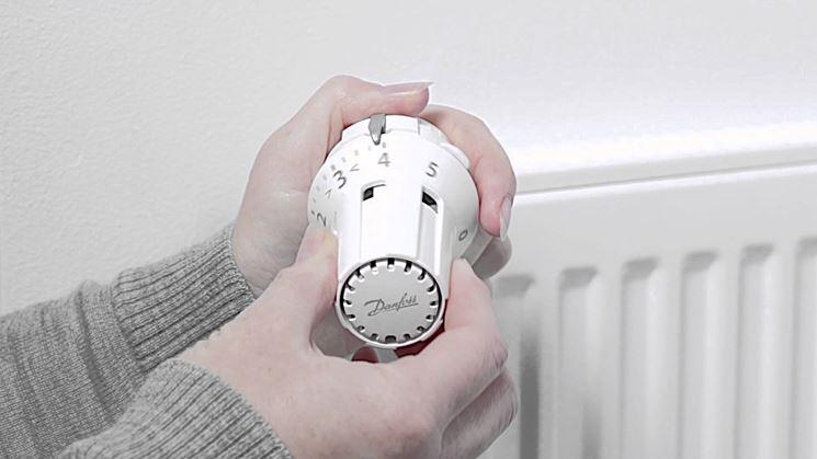 Regolazione valvola termostatica