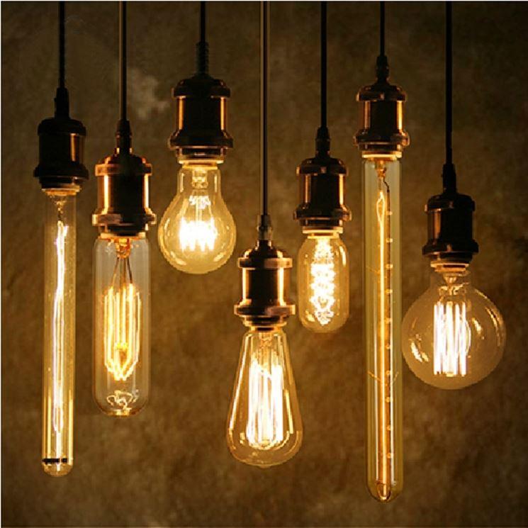 lampadine a filo di tungsteno