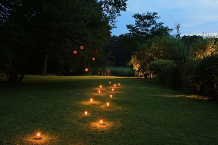 Punti luce giardino