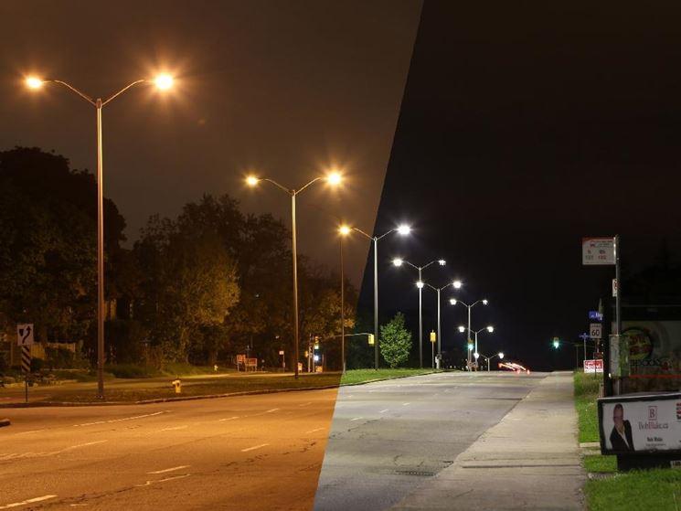 Illuminazione stradale a led versus tradizionale