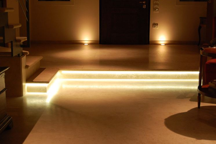 Casa arredata con illuminotecnica