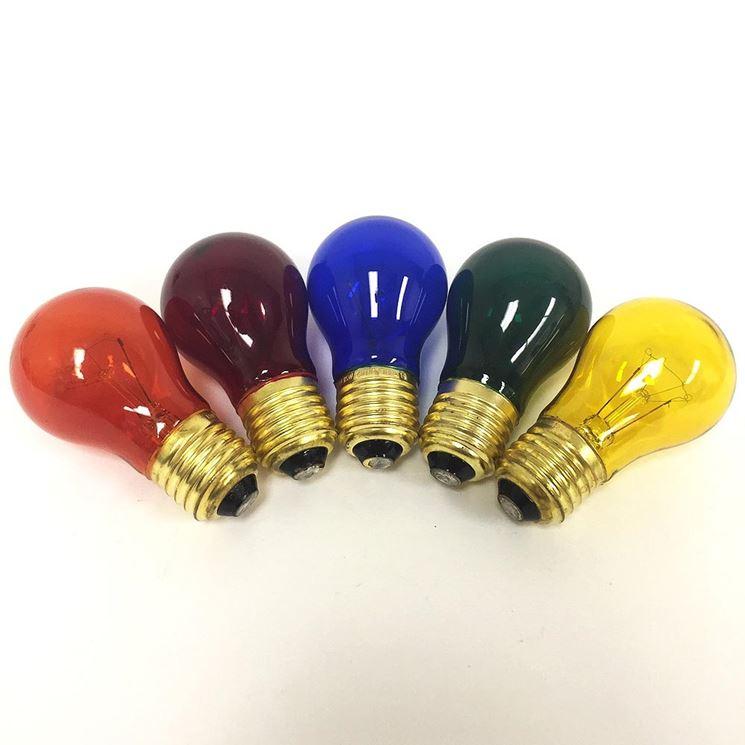 Arcobaleno di lampadine