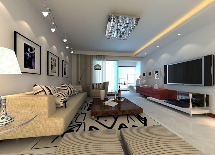 Progettazione illuminotecnica soggiorno