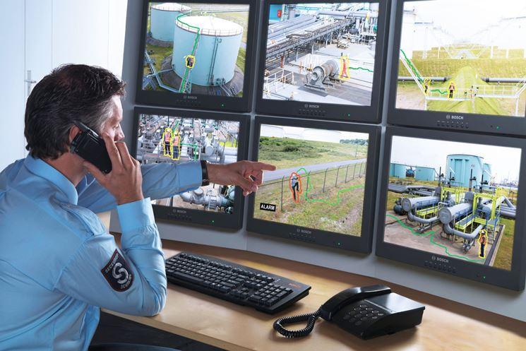 Postazione di controllo impianti videosorveglianza