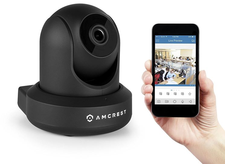 Smartphone collegato a videocamera