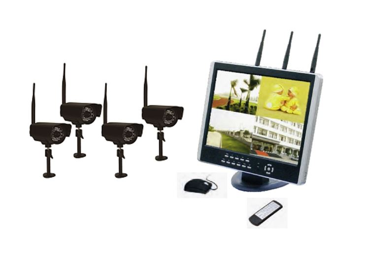 Impianto sorveglianza con frequenze non wi fi