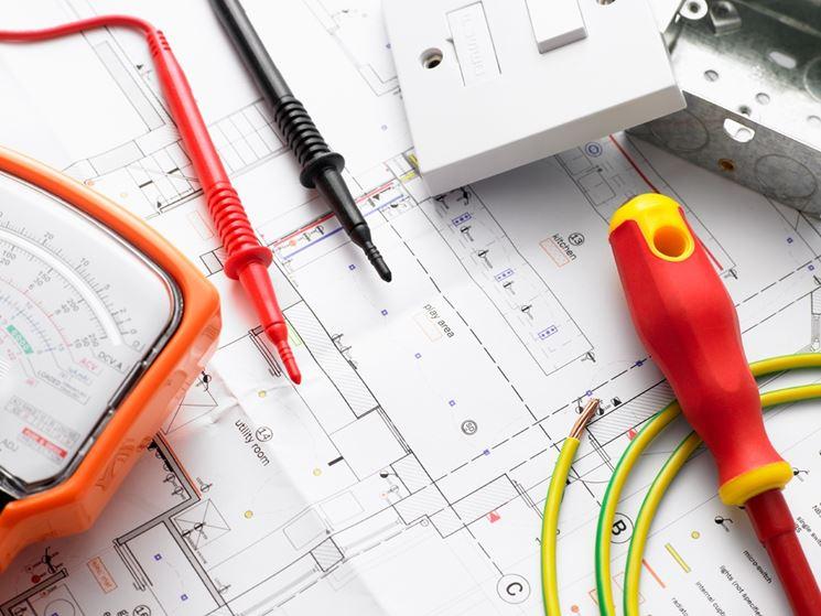 Planimetria di una casa con sopra strumenti da lavoro